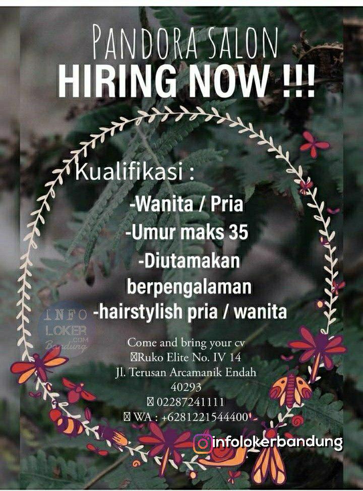 Lowongan Kerja Pandora Salon Bandung Juli 2018 - infolokerbandung.com