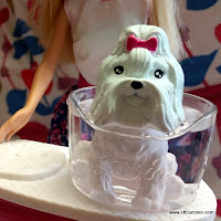 Barbie colour me cute white dog