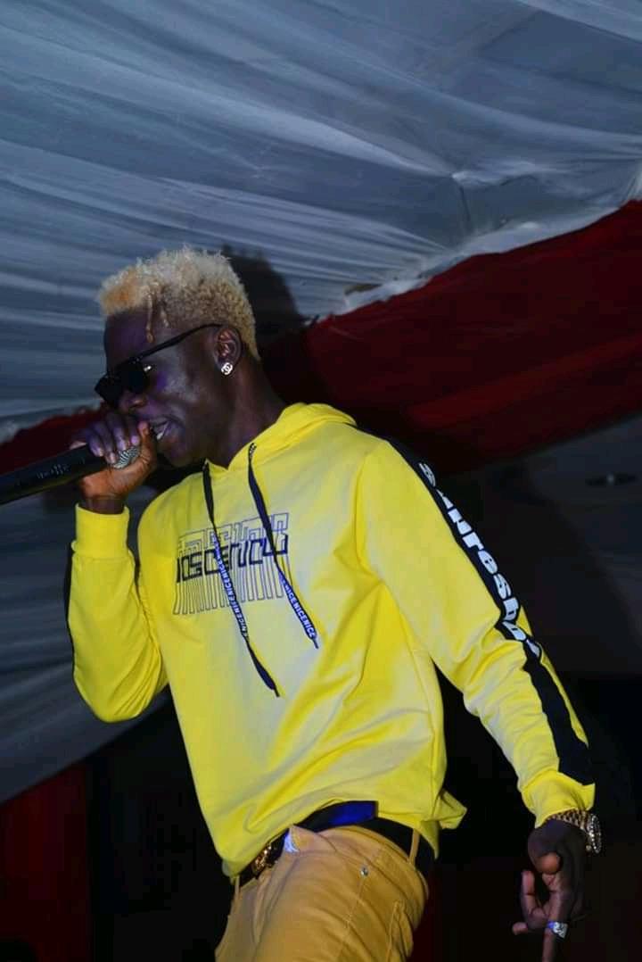 Rapper Entertaining His Fans
