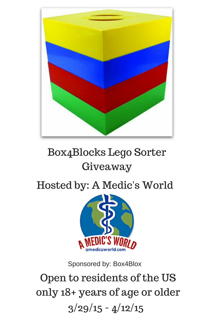 Enter the Box4Blox Lego Sorter Giveaway. Ends 4/12.
