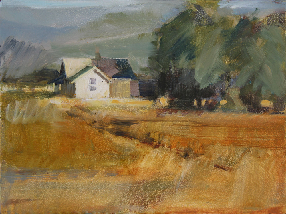 Fall River Ford >> Gretchen Hancock's Paintings: Twisp River Farmhouse
