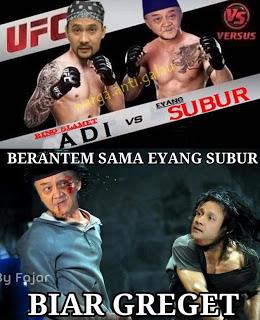 Foto Lucu Eyang Subur VS Adi Bing Slamet