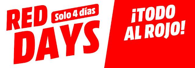 Top 10 ofertas folleto Red Days (solo 4 días) de Media Markt