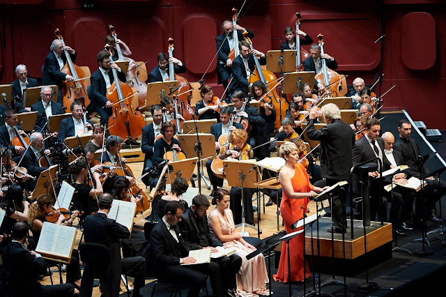 John Nelson conducting Berlioz's Les Troyens with Joyce DiDonato, Michael Spyres, Orchestra philharmonique de Strasbourg (Photo Gregory Massat)