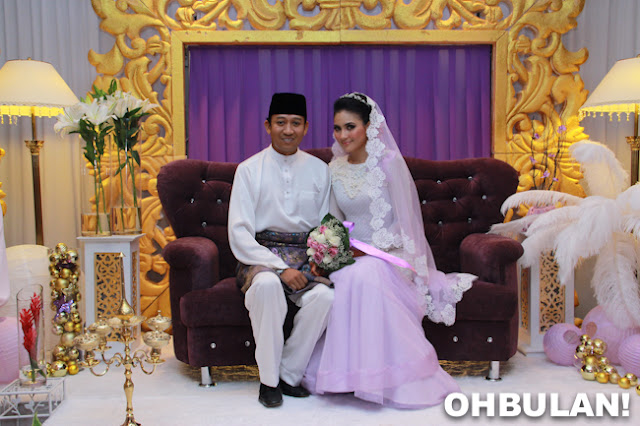 crowne mutiara kl, lacy floral veil, gorgeous wife, purple bersanding