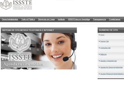 Gobierno Digital – Reservas de Citas Médicas ISSSTE