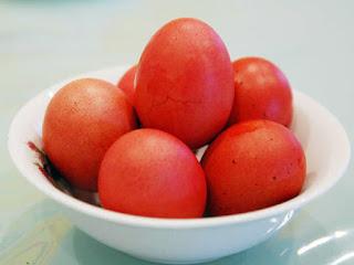 red eggs , telur merah rebus
