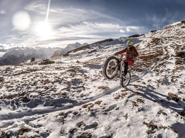 Fatbike Technik Winter Schnee MTB Blaser