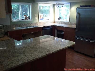 the granite kitchen worktops