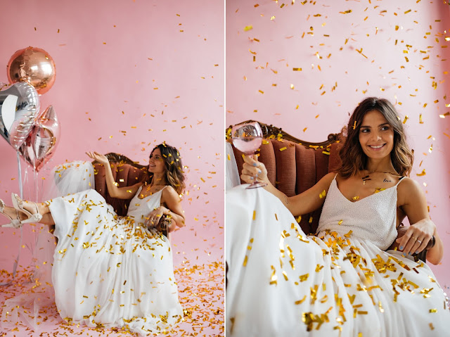 Sesja promocyjna Targi Happy Together. Alternatywne targi ślubne w Krakowie. COOL BRIDE, pink gold wedding. Styled photoshoot for Happy Together wedding expo.