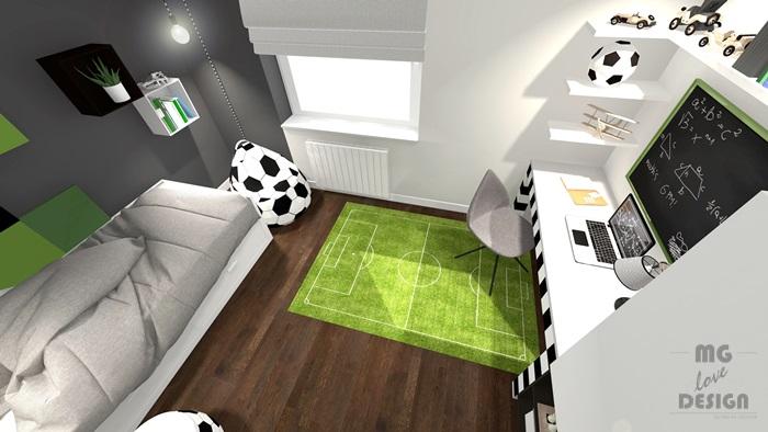 3 Pokój dla chłopca - piłka nożna - architekt wnętrz Nysa Głuchołazy