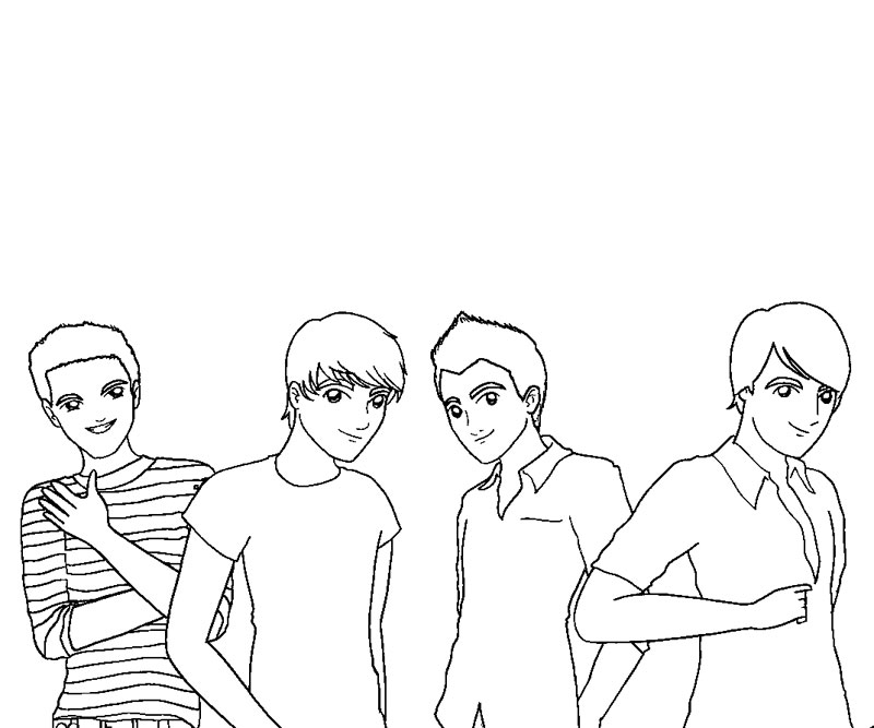 big time rush coloring pages - photo#24