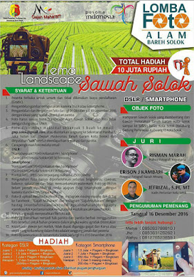 Lomba Foto Alam Bareh Solok - Sumatera Barat