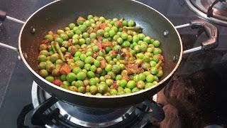 Green Peas fry - Pattani Sundal