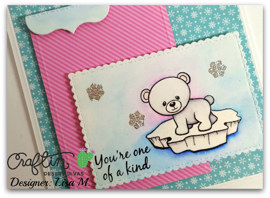 Created In the Crafting Cave with Lisa for Let It Snow Linky Party