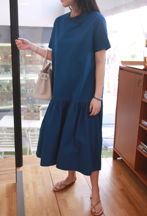 Drop Waist Short Sleeve Dress