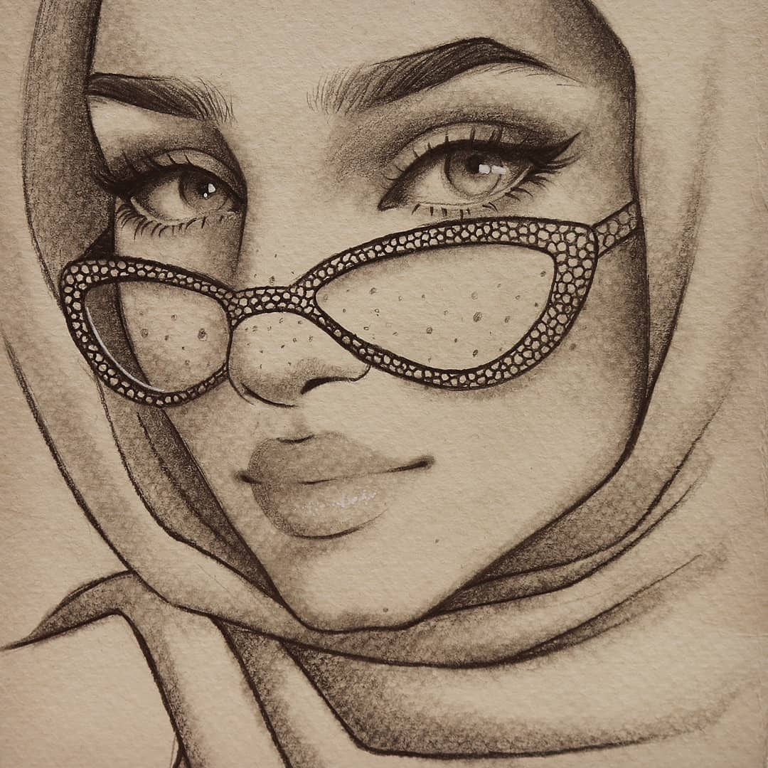 06-Doaa-Moaz-Female-Portrait-Drawings-www-designstack-co