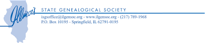Illinois State Genealogical Society Announces Its Annual Fall Conference to be held October 27 and 28, 2017