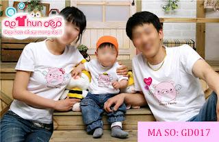 Áo gia đình hình heo con-Happy family_ Mã GD017