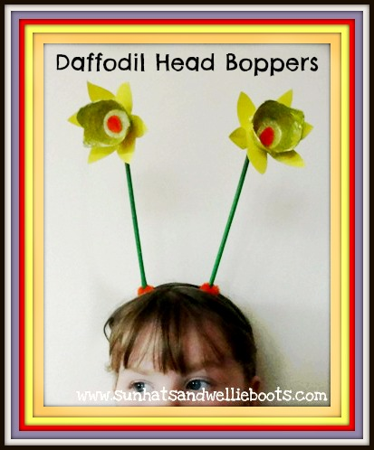 Sun Hats Wellie Boots Daffodil Head Boppers