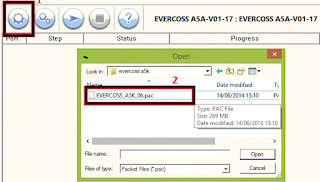 Cara Flash Evercoss A5K Bootloop Via PC