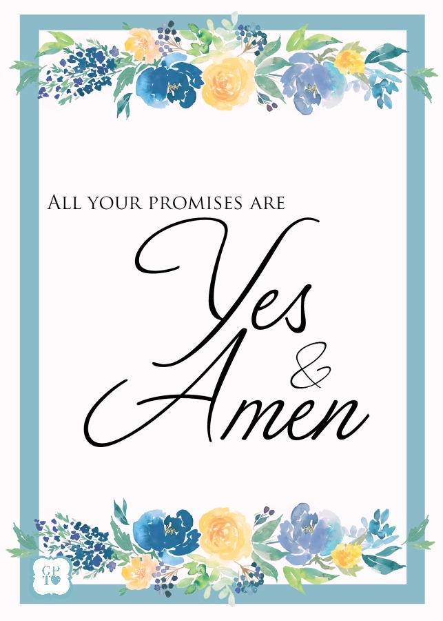his promises are yes and amen