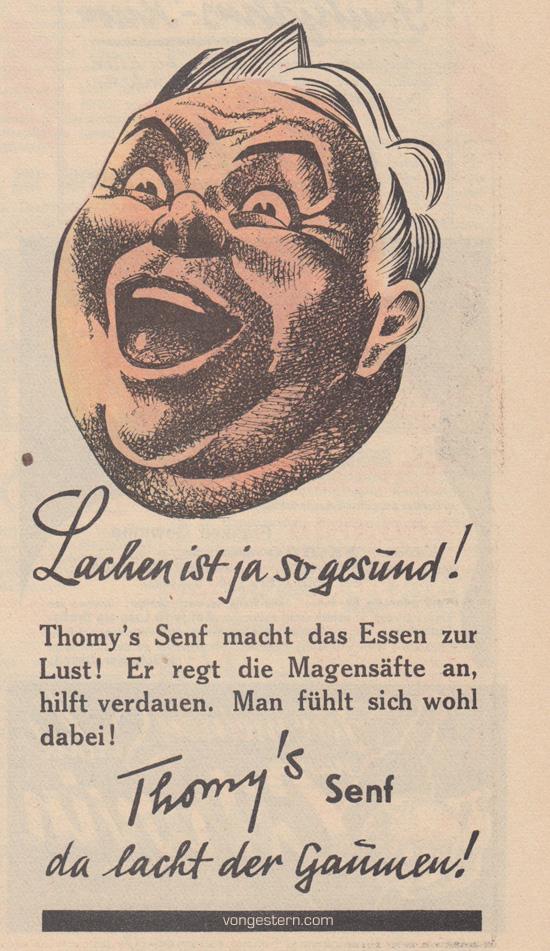 Thomys Senf, 1936 - vongestern