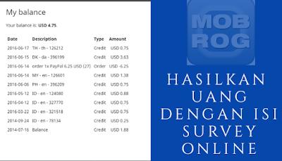 Hasilkan Uang dengan survey online