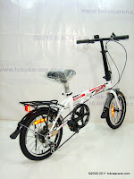4 Sepeda Lipat ELEMENT DASH 7 Speed Shimano 16 Inci