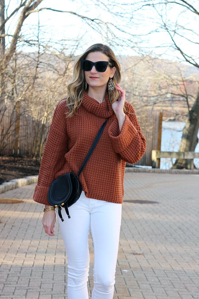 waffle knit sweater #springsweater #waffleknitsweater