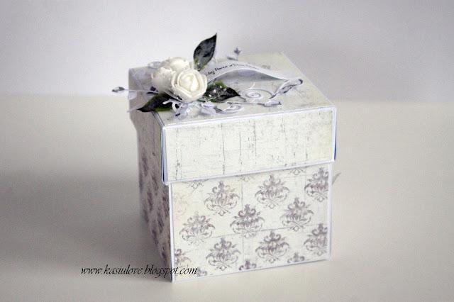 exploding box na ślub – w odcieniach szarości