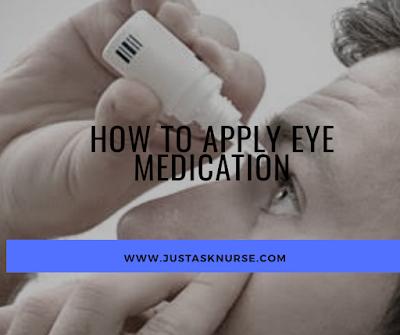 How to instill or apply eye medication