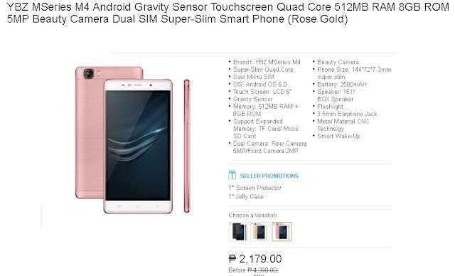 YBZ MSeries M4 Android Gravity Sensor Touchscreen Quad Core 512MB