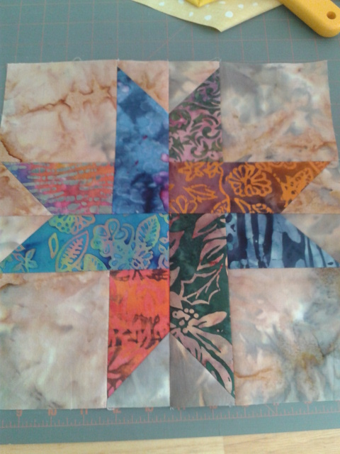 Painted Pony Quiltworks Woven Star Block Tutorial
