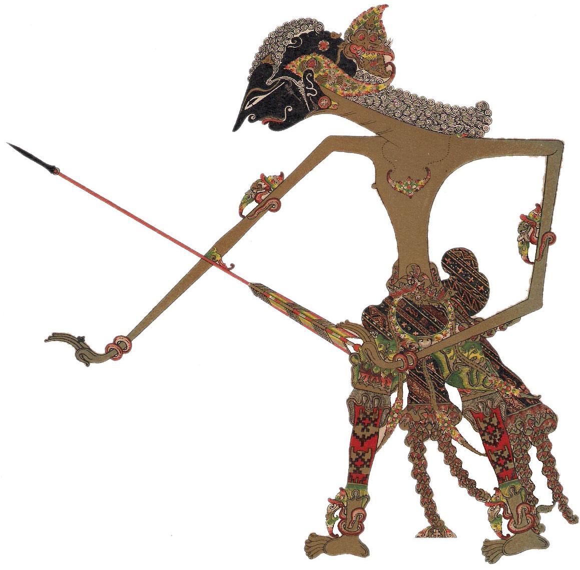 Terdiri atas delapan belas kitab dan dikenal dengan nama astadasaparwa. The characters in Wayang Kulit ( Shadow puppets )   Adiprayogo