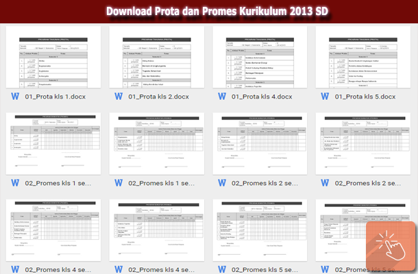Download Prota dan Promes Kurikulum 2013 SD