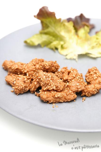 Bouchées de poulet au sésame