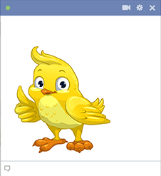 Thumbs up bird emoji