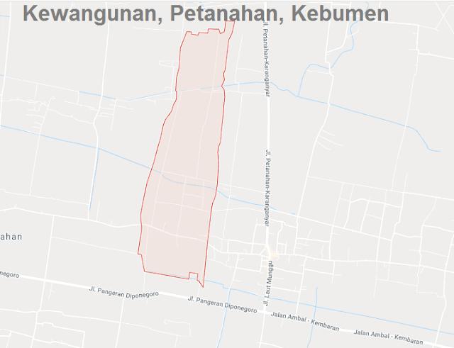 Sejarah Singkat Desa Kewangunan, Kecamatan Petanahan