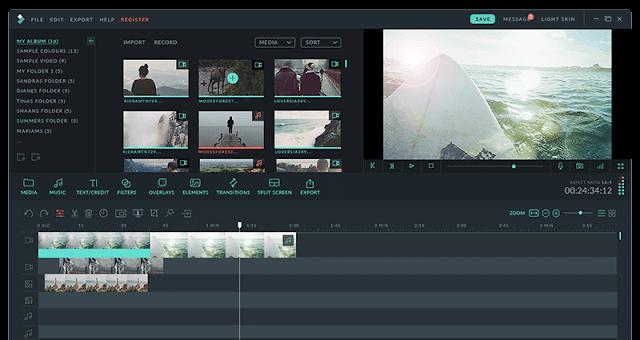 برنامج تعديل الفيديو Filmora