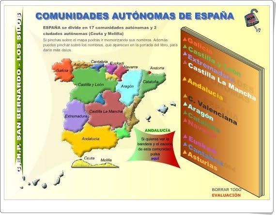 """""""Comunidades Autónomas de España"""" (Juego de Ciencias Sociales de Primaria)"""