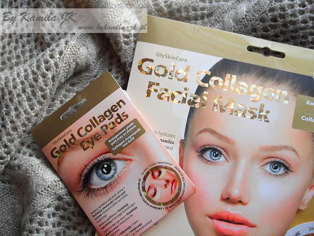 GlySkinCare Gold Collagen kolagenowa maska do twarzy płatki pod oczy ze złotem