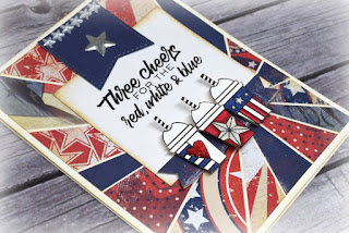 Americana handmade card by Julee Tilman featuring Verve Stamps| www.poeticartistry.blogspot.com