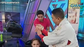 Alden as the salon staff and Jose as the Master Feng Shui