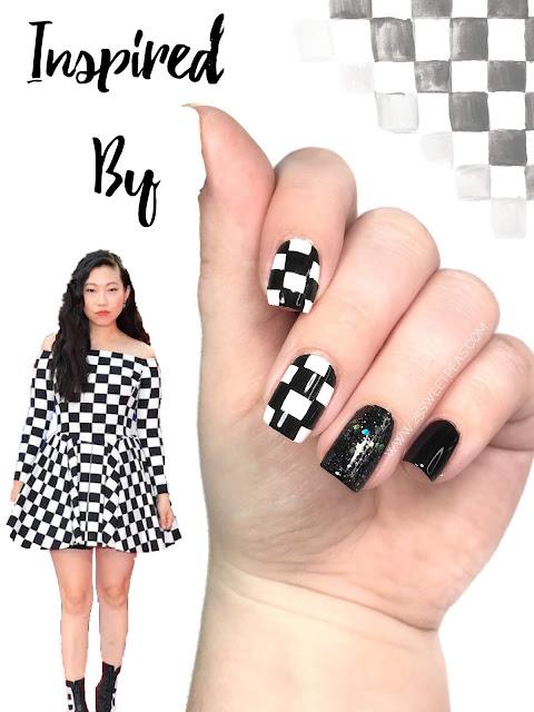 Checkered Nail Art
