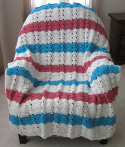 Nautical Ocean Breeze Crochet Afghan - Free Pattern