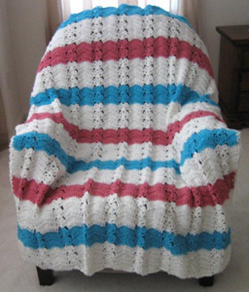 Nautical Ocean Breeze Crochet Afghan - Free Pattern