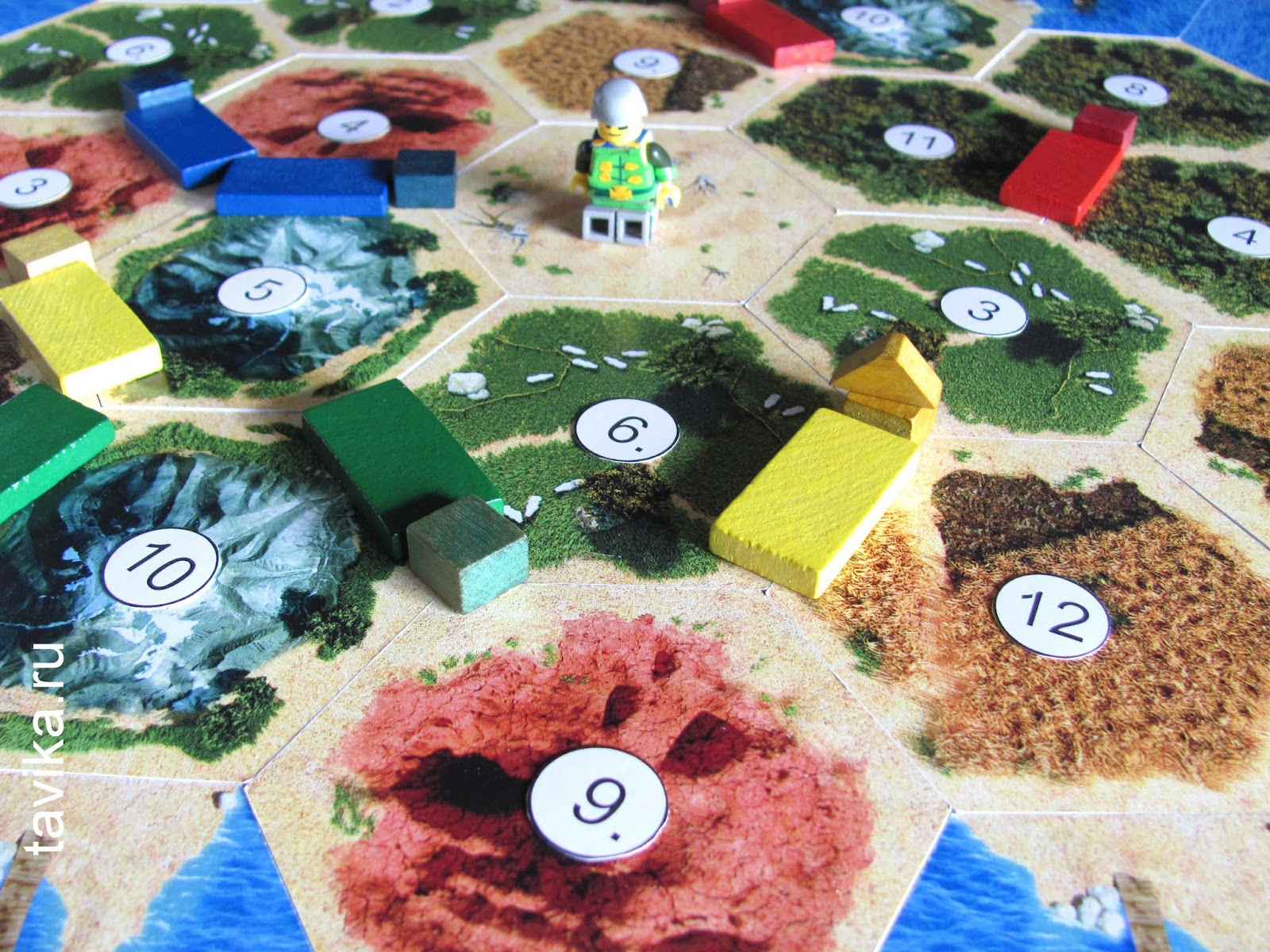 Настольная игра Катан - игровое поле