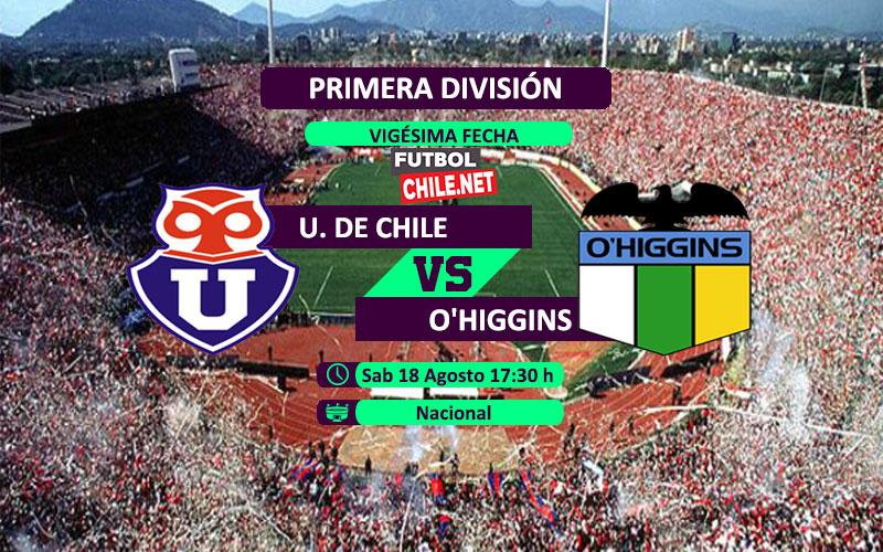 Mira Universidad de Chile vs O´Higgins en vivo y online por la Primera División Chile