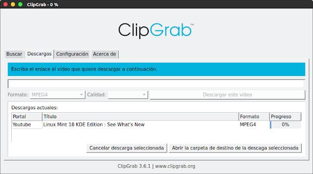 Descarga y convierte videos fácilmente en Ubuntu/Linux Mint con ClipGrab - El Blog de HiiARA